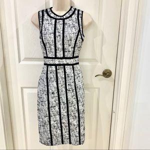Calvin Klein Black White Pencil Dress